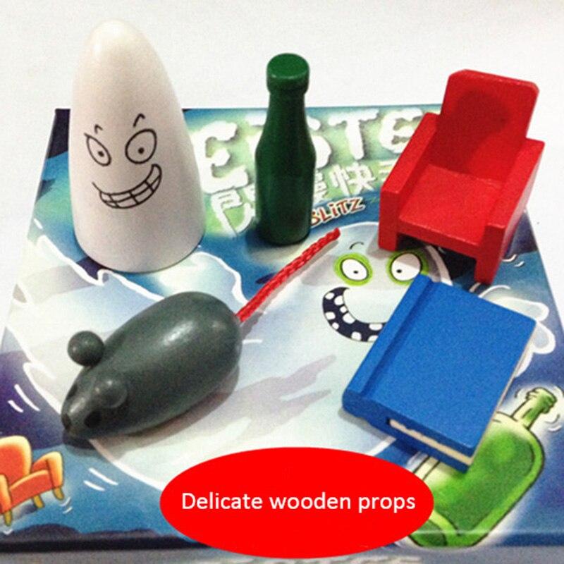 Jeu de société avec des Instructions en anglais pour Blitz1.0 geistesblitz jeu pour famille partie cartes jeu