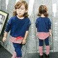 spring girls stripe sets boys patchwork set autumn child clothes pants sets