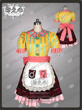 New!! Alice Madness Returns Pink Yellow Doll House Fashion Uniform Party Dress Cosplay Party Costume Dress(China)