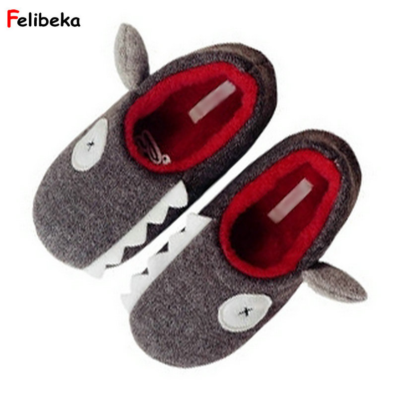 New Fashion Cartoon Slippers Winter Women Warm Knitted Cotton Plush Indoor Non-slip Shoes Home Funny Pirate X eye Shark Slippers цена