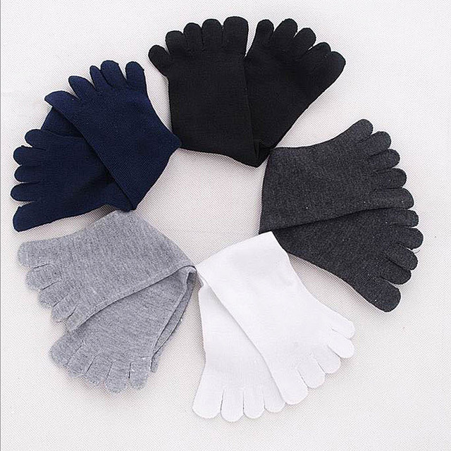 High Quality Warm Summer Casual Men's Business Socks 8 Colors Fashion Men Five Fingers Separate Toe Soft Cotton Socks