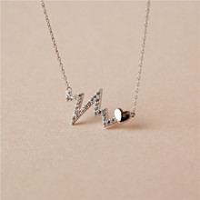 925 Sterling silver Pendant necklace The heartbeat Set auger Wholesale womens fashion jewelry