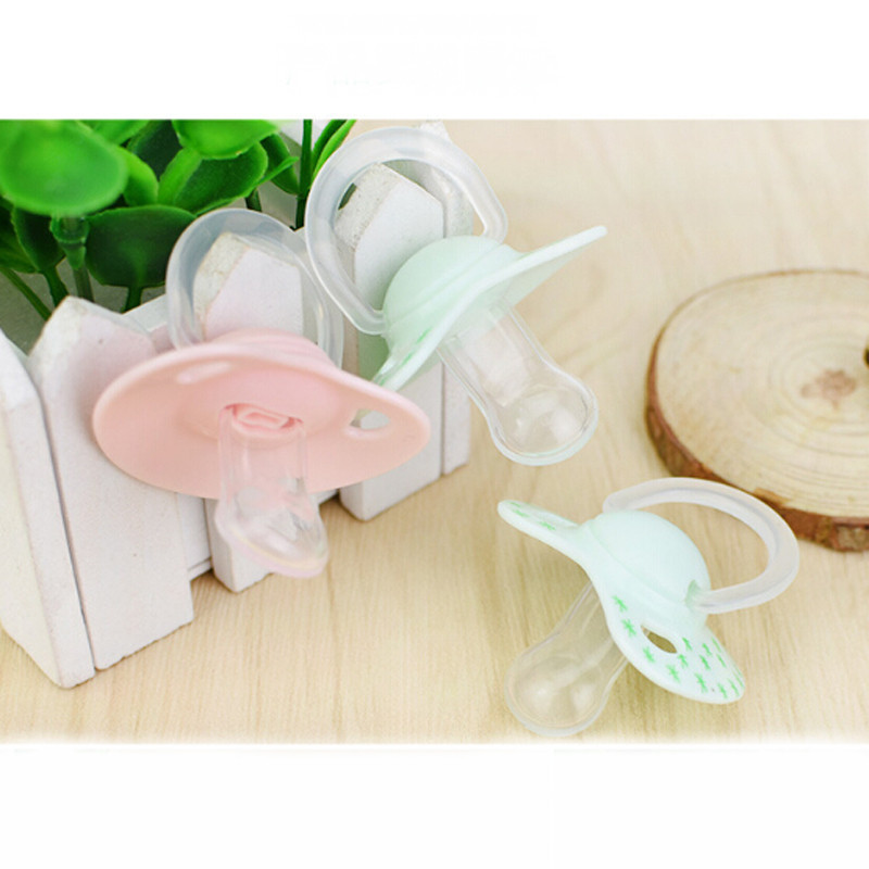 New Anti-dust Cover Born Baby Pacifier Flat Thumb Pattern Baby Dummy Nipples Baby Nipples Tool Safe Feeding Accessories 2 Colors