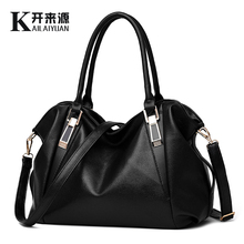 KLY 100% Genuine leather Women handbag 2019 New Classic casual fashion female Cross hand bag of bill lading messenger