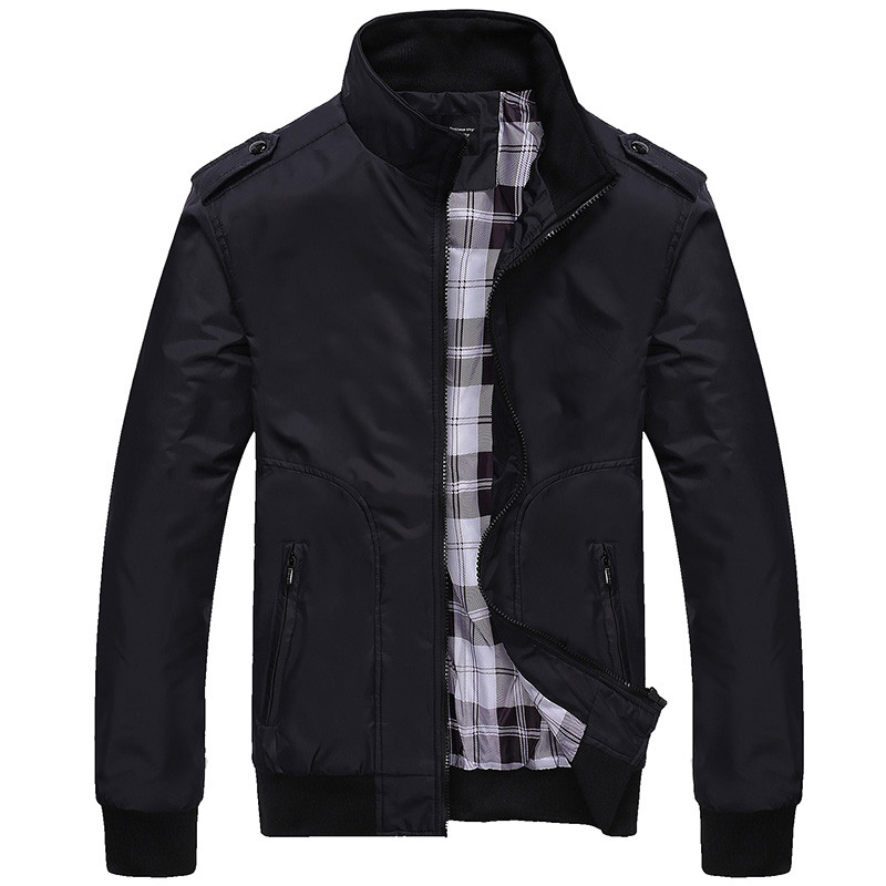 2019 Fashion Spring Men's Jackets Solid Coats Male Casual Stand Collar Jacket Fashion Overcoat