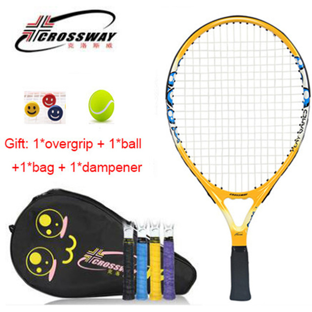 22799c8317 Kids Tennis Racket 19 Inch 1 Piece Racquet Padel With Bag Overgrip Dampener  Balls Youth Gifts