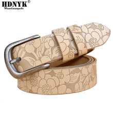 Hot New Vintage Belt Woman Genuine Leather Cow skin strap Fashion pin Buckle Belts For Women