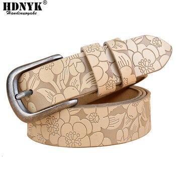 Hot New Vintage Cintura Donna Vera Pelle di Mucca pelle di Modo della cinghia di pin Fibbia Cinture Per Le Donne di Alta Qualità dei jeans cintura