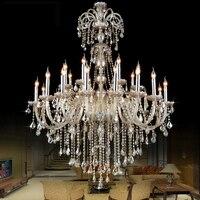 Modern Crystal Round Chandelier Lustre Lamps Modern Kitchen Led Chandeliers Retro Iron Chandelier Crystal Wedding K9