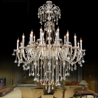 Modern Crystal Round Chandelier Lustre Lamps Modern Kitchen Led Chandeliers Retro Iron Chandelier Crystal Wedding K9