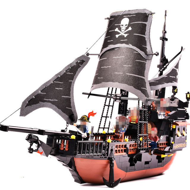 StZhou Pirates Ship 652pcs Bricks Black Pearl Building Blocks Sets Christmas Gifts Toys For Children kazi black pearl caribbean pirates ship building blocks sets bricks christmas birthday gifts diy toys for children