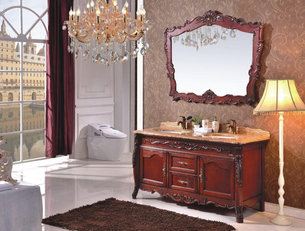 Luxury design di stile classico doppio lavabo mobiletto del bagno in legno 0281 b 8602 in luxury - Mobili luxury design ...