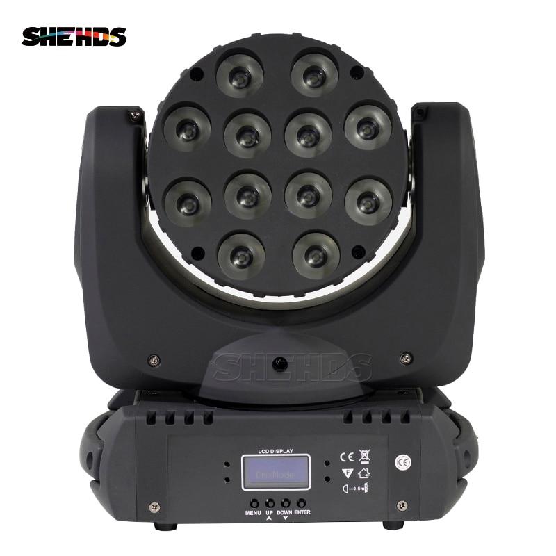 Светодио дный светодиодный луч движущийся головной свет 12 Вт 12 RGBW светодио дный Quad LED s с отличным Pragrams 9/16 каналы DMX контроллер SHEHDS сценическо...