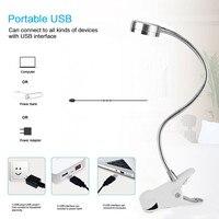 Flexible Permanent Makeup Equipment LED Clip Portable Book Night Light Student Eye Protection Dormitory Metal Desk