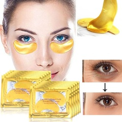Eye Face Care 5bags Gold Crystal Collagen Eye Mask Patches For The Eye Anti-Aging Anti-Wrinkle Remove Black Eye