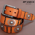 Fashion  Rock & roll fashion style men&women imported genuine leather  Punk rivet series belts for men  New  style  No:WA1311049
