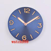 38.9mm parnis Rose gold hands sandwich Blue Dial Sterile watch dial fit ETA 6497 6498 ST3600 movement