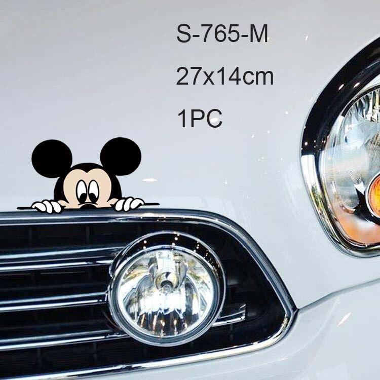 Автомобильная наклейка на кузов, боковая наклейка, большой размер, милый рисунок Микки Мауса, виниловая, для грузовика, для всего тела, для автомобиля, голова, аксессуары для укладки