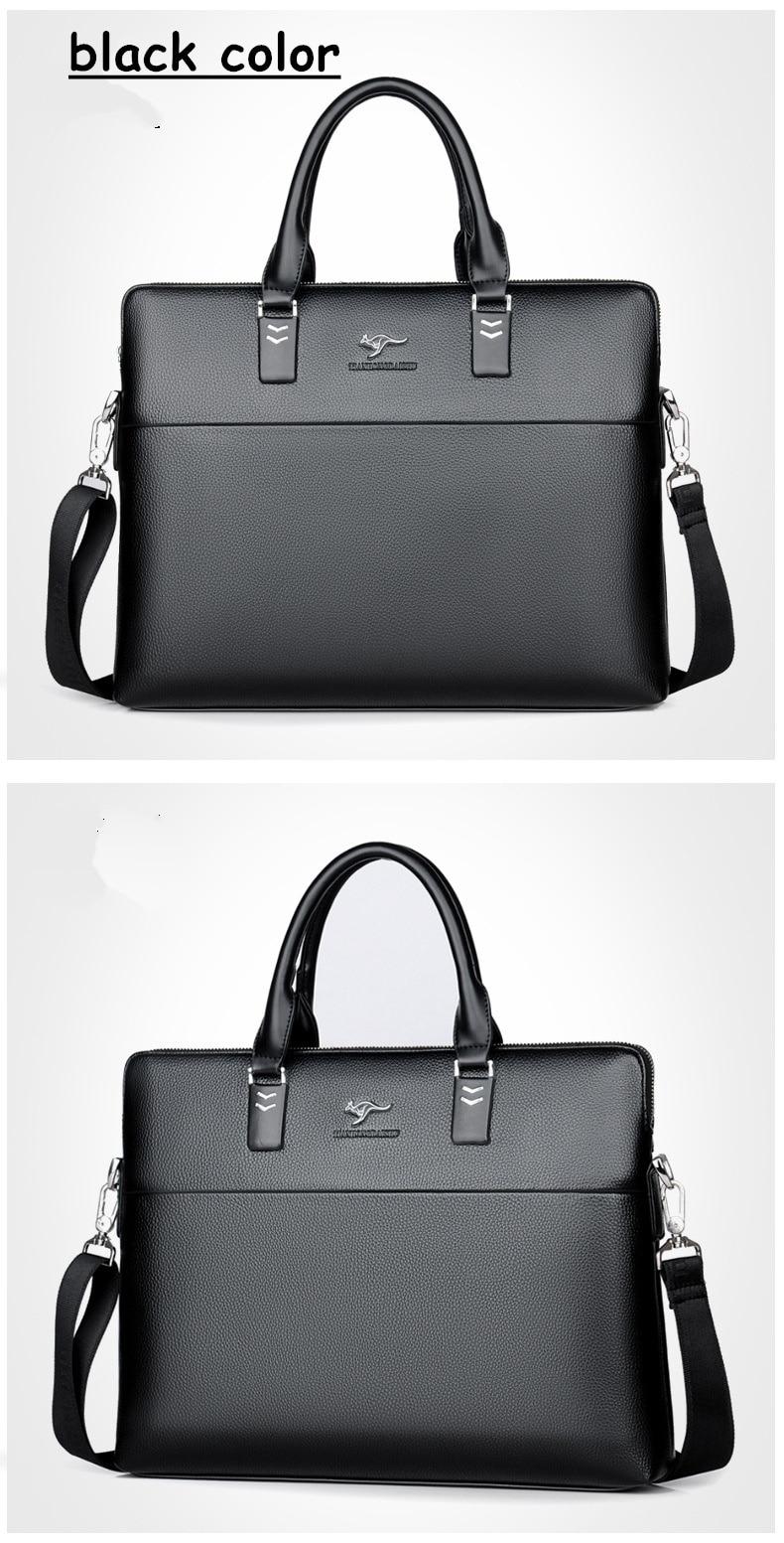HTB1NsFVXWagSKJjy0Fcq6AZeVXaU TIANHONGDAISHU Men Casual Briefcase Business Shoulder Leather Messenger Bags Computer Laptop Handbag Men's Travel Bags handbags