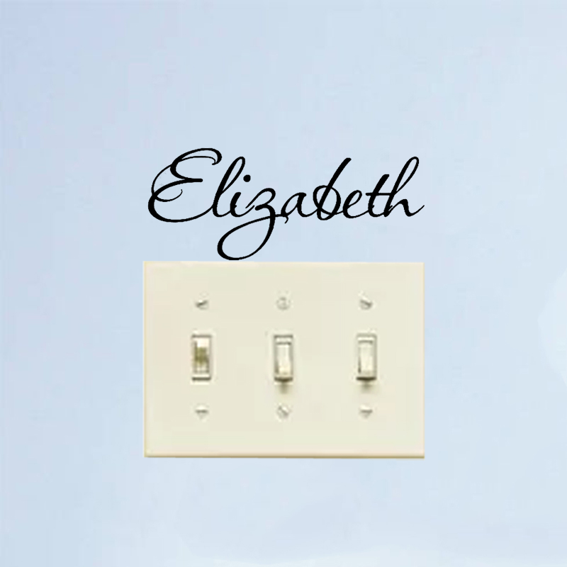ELIZABETH Girls Room Decor Home Tatuajes de Pared Etiquetas Engomadas Del Interr
