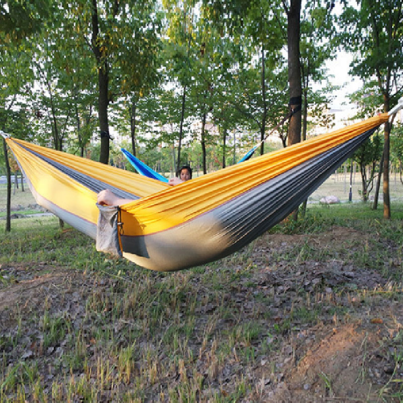 hot 9 Color 190x 140cm Portable Parachute Hammock Camping Survival Garden Flyknit Hunting Leisure Hamac Travel Person Hamak 300 200cm 2 people hammock 2018 camping survival garden hunting leisure travel double person portable parachute hammocks
