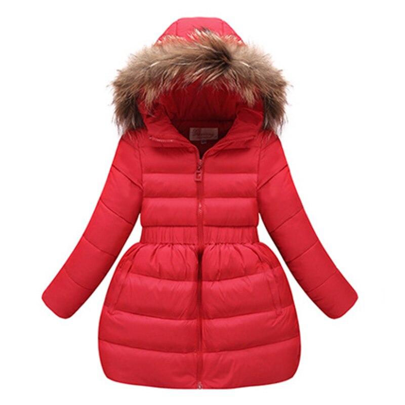 Moda çocuk kış ceket Kız Sıcak Kapüşonlu giyim Çocuk Mont Kız Bebek Kız Için Ceketler Mont XY17