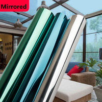 one way vision reflective architecture window tint film multi colors mirror film 1.52 x 5m Hot Sale
