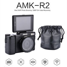AMKOV 1080P AMK-R2 DSLR Camera 24MP HD Digital Camera Camcorder 3.0″ TFT Rotatable Screen Recording Wide-angle Lens 4x Zoom Cam