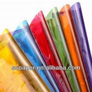 cellophane colorato  Vendita CALDA 70*200 cm colorato carta cellophane plastica carta per ...