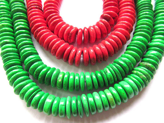 high quality bulk turquoise stone button rondelle red green olive mixed jewelry beads 10mm--4strands 16inch/per strandhigh quality bulk turquoise stone button rondelle red green olive mixed jewelry beads 10mm--4strands 16inch/per strand