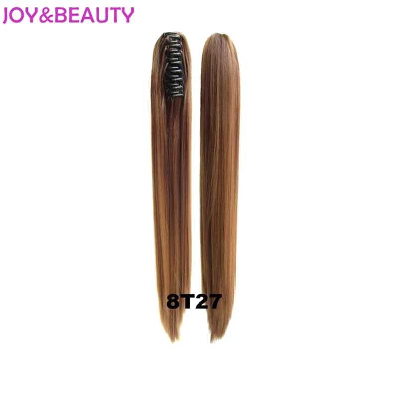 Joy & Kecantikan Rambut Panjang Lurus Ekor Kuda Sintetis 24 Incclip Di Rambut Ekstensi Serat Suhu Tinggi Ekor Kuda Ombre Warna