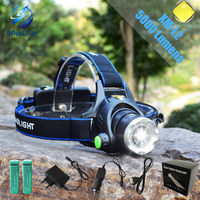 Shustar CREE XML T6 Headlights Headlamp Zoom Waterproof 18650 Rechargeable Battery Led Head Lamp Bicycle Camping