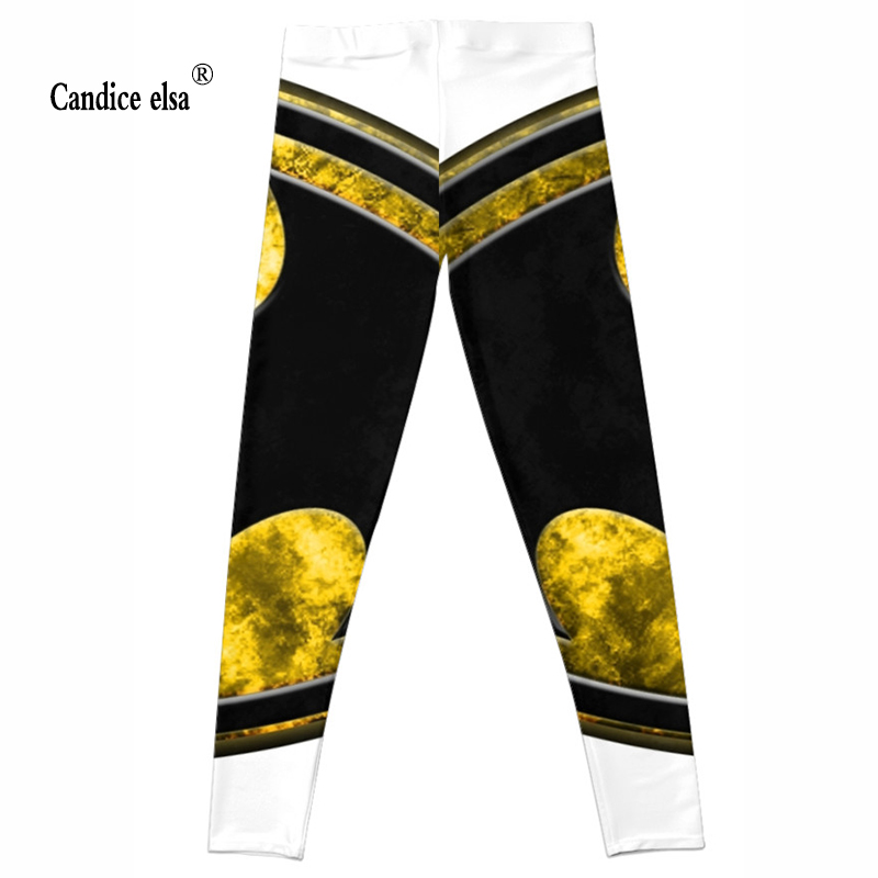 CANDICE ELSA leggings women workout female pants elastic fitness legging patterned print trousers plus size wholesale in Leggings from Women 39 s Clothing