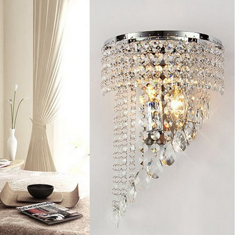 European style Modern Crystal Chandelier Wall Light Lighting Fixture 220V E14 LED Ceiling Lights chandelier lamps