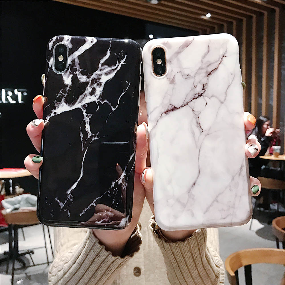 Luxury Marble Silicone Case For iphone X 8 7 Plus XS Max XR Case Soft TPU Cover For Coque iphone XS Max 6 6S 7 8 Plus Phone Case