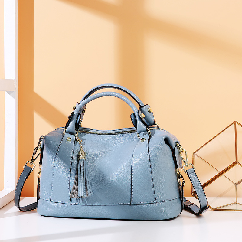 Sac à bandoulière Messenger de luxe pour femme sacs à bandoulière d'été pour femme sacs à main et sacs à main en cuir véritable sac fourre tout noir gland 2019 - 2