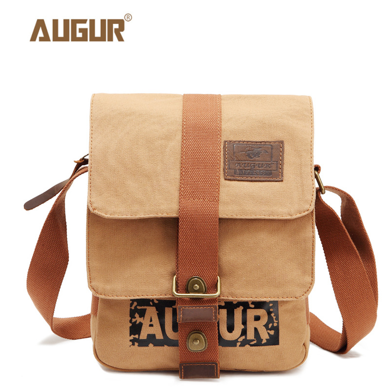 AUGUR Multifunction Canvas Single Mini Shoulder Bags Brand Vintage Military Men Messenger Bag Small Flap Male New Crossbody Bag high quality men canvas bag vintage designer men crossbody bags small travel messenger bag 2016 male multifunction business bag