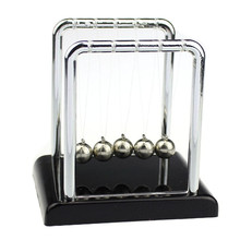 Physics Science Accessory Desk Toy  Newton's Cradle Steel Balance Balls Dec09