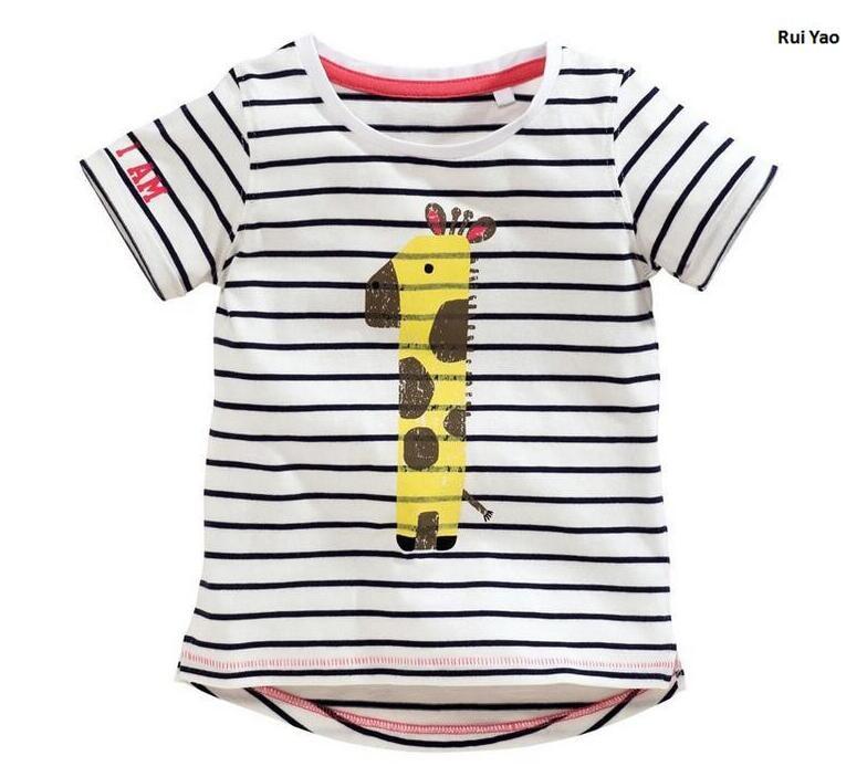 f3bb3a348bf87 Y567915 D été Top Bébé Fille Vêtements Pour Filles Tops Rayé Girafe ...