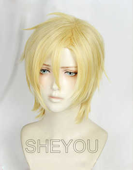 Anime BANANA FISH Ash Lynx Wigs Aslan Jade Callenreese Heat Resistant Cosplay Wig + Track No. + Wig Cap - DISCOUNT ITEM  0% OFF All Category