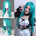 Sailor Moon Sailor Neptune 55cm long buish curly synthetic wig cosplay anime wig natural looking