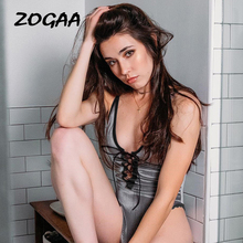 ZOGAA Sexy Spaghetti Strap Lace-up Women Bodysuits Tops Backless Sexy Party Club Cropped Women Tank Top 19 Summer New Cami недорого