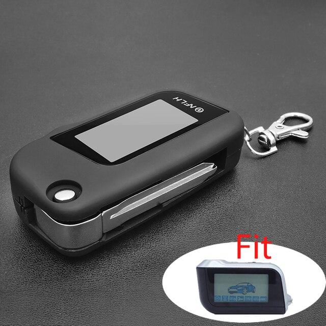 Neue Version A93 Abdeckung Fall Keychain mit Schlüssel Klinge mit Glas für Starline A93 LCD Zwei Weg Fernbedienung Schutzhülle shell