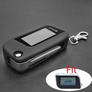 Image 1 - 새 버전 a93 커버 케이스 키 체인 starline a93 lcd 양방향 원격 컨트롤러 보호 쉘에 대 한 유리와 키 블레이드