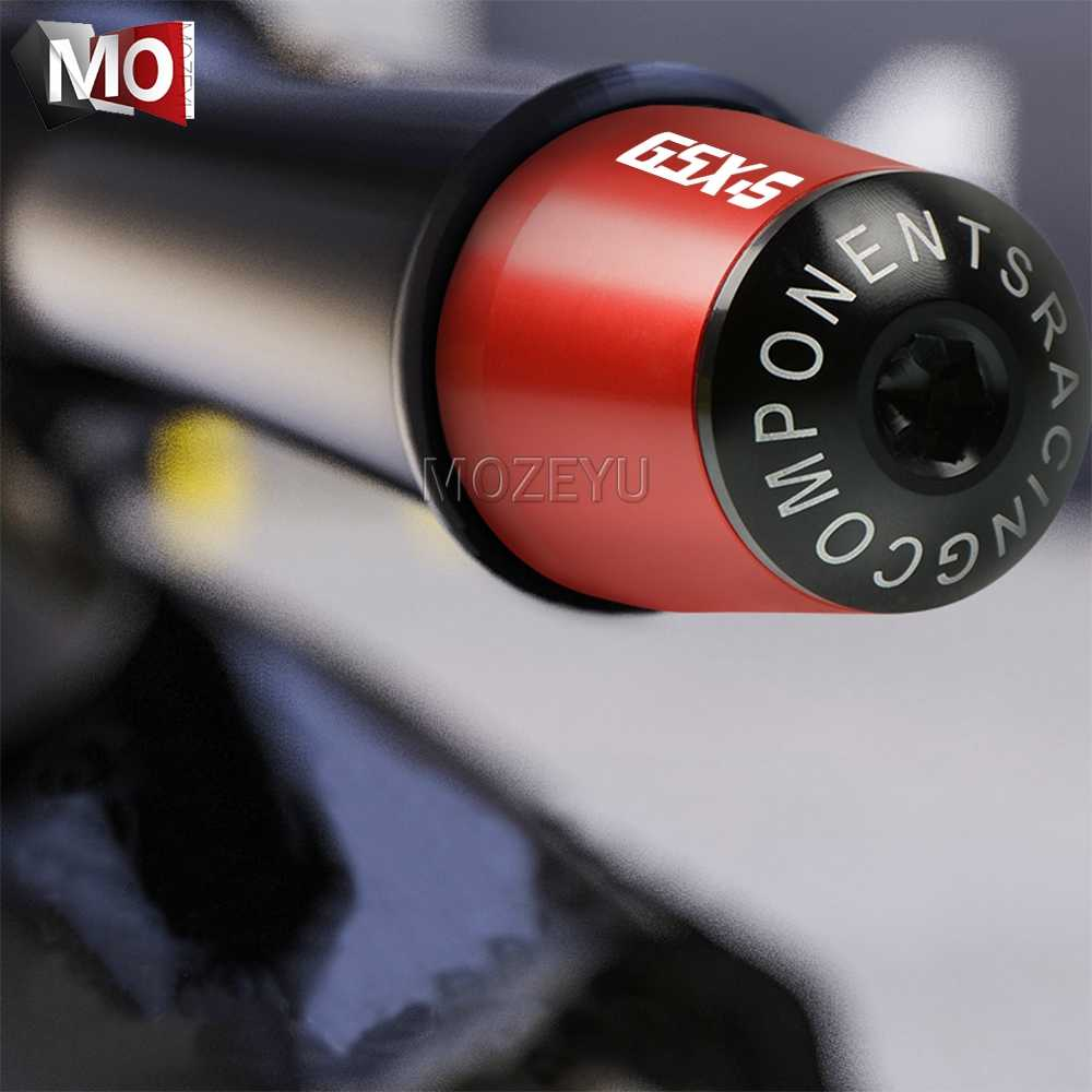 "Motor 7/8 ""22 Mm Stang Tangan Grip Handle Bar END CAP UNTUK Suzuki Gsxs GSX-S 125 150 750 1000 F ABS GSXS750 GSXS1000"