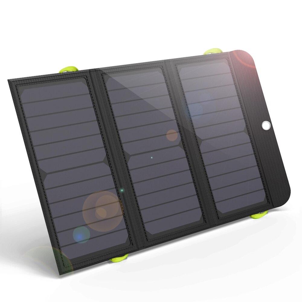 ALLPOWERS Mais Novo Recarregável Carregador de Painel Solar Carregador Solar 6000mAh para o iphone 6 6s 7 7plus 8 iPhone X Huawei Xiaomi Samsung