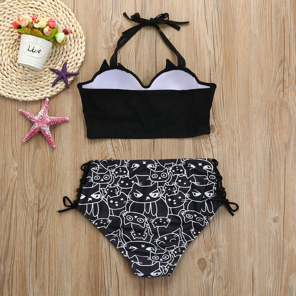 76ce185ccc6fc KANCOOLD Women Summer Tankini Girls Halter Kitty Underwear Set Underwire  Padded Bralette Bathing Lingerie Suit D30 Mar20-in Lingerie Sets from  Novelty ...