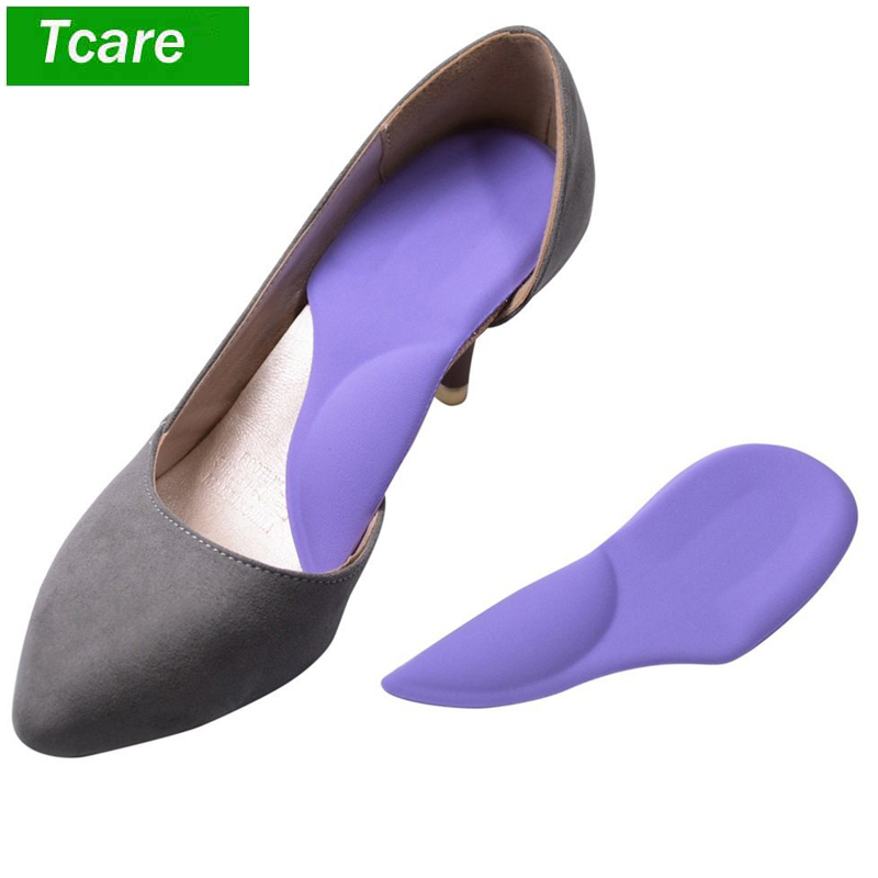 1Pair Arch Support Flat Feet Cushion Pads Women High-Heel Shoes Insoles Inserts
