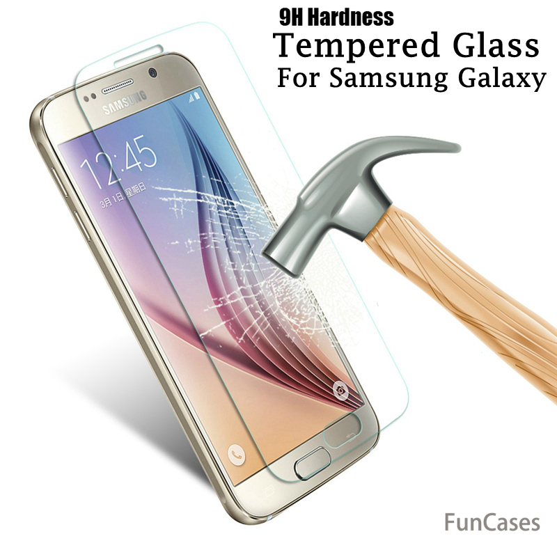 9HTempered Glass For Samsung <font><b>Galaxy</b></font> A3 <font><b>A5</b></font> A7 2017 J1 J3 J5 J7 2016 <font><b>Screen</b></font> Protector For Samsung A6 A8 J4 J6 <font><b>2018</b></font> Protective film image