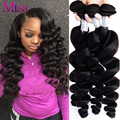 Free Shipping 7A Unprocessed Malaysian Virgin Hair Loose Wave 4 Bundles Human Hair Weaves Ali Moda Malaysian Loose Wave Curly
